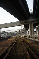 Rokkor35mm28_A7_AbandonedFreeway (36) (bad.moon) Tags: freeway minolta oakland rokkorx35mmf28 sonya7 traintracks urbanabandoned urbandecay
