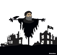 ScareCrow (khalid Albaih) Tags: khartoon khalidalbaih sudan cartoon illustration palestine israel gcc qatar mbs mbz trump السودان خرطون خالد البيه كركتير
