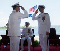 180517-N-ND356-0155 (U.S. Pacific Fleet) Tags: jointbasepearlharborhickamjbphhmc3jessicablackwellje pearlharbor hawaii unitedstates us jointbasepearlharborhickamjbphhmc3jessicablackwelljessicablackwellnpasehawaiinpasewestdethawaiinpasewestadmswiftadmscottswiftcommanderofuspacificfleetpacfltpacfltchangeofcommanduspacfltadmaquilinoa