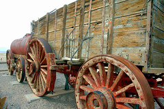 Twenty Mule Team Wagon at Harmony Borax Works (EmperorNorton47) Tags: deathvalleynationalpark california photo digital spring desert history historicalartifact wagon wheels nps worldheritagesite unesco mining borax