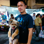 Man with doggy, at Sunday Walking Street thumbnail