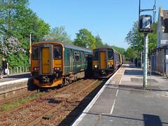 150246 & 153361 Topsham (4) (Marky7890) Tags: 153361 class153 supersprinter gwr 150246 class150 sprinter 2b80 topsham railway devon avocetline train
