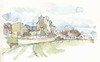 Crissay-sur-Manse, Indre-et-Loire, France (Linda Vanysacker - Van den Mooter) Tags: 2018 watercolor watercolour visiblytalented vanysacker vandenmooter tekening sketch schets potlood pencil lindavanysackervandenmooter lindavandenmooter drawing dessin croquis crayon art aquarelle aquarell aquarel akvarell acuarela acquerello kasteel château castle manoir frankrijk france crissaysurmanse indreetloire