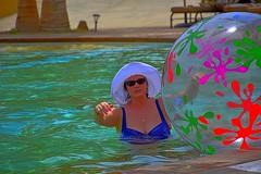 Fun & Games at the pool (Kirt Edblom) Tags: loreto loretomexico mexico villadelpalmar vacation vdp loriford ford pool swimmingpool aroundthepool gaylene wife gulfofcalifornia milf scenic seaofcortez spa resort bcs baja bajacaliforniasur beachball water danzantebay danzante easyhdr edblom kirtedblom kirt nikon nikond7100 nikkor18140mmf3556 hdr islandsofloreto may 2018