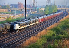21st Century Limited (BravoDelta1999) Tags: norfolksouthern ns railway conrail cr newyorkcentral nyc railroad chicagoline eastchicago indiana inlandsteel works cp502 interlocking emd f9a f7b 4270 4271 4275 4276 955 officer special ocs train