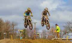 Two Muddy Jumpers (John Kocijanski) Tags: motorcycle motocross vehicles dirtbike people race sport canon70300mmllens canon7d