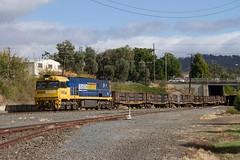 NR62, the last in blue (Aussie foamer) Tags: nr62 nrclass ge generalelectric ugl goninan nationalrail pacificnational steeltrain ararat victoria train railway locomotive rpaunrclass rpaunrclassnr62