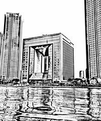 St Regis Hotel Tianjin (Bruce in Beijing) Tags: tianjin haihe haiheriver stregis sketch river skyline moderntianjin