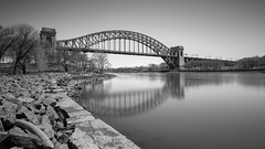 Hell Gate Bridge (Jemlnlx) Tags: canon eos 5d mark iv 4 5d4 5div ef 1635mm f4 l is usm new york city ny nyc tiffen bw filter filters stacked gnd nd graduated neutral density 30 10stop circular polarizer hell gate bridge randalls island