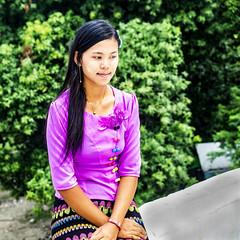 En si misma (Nebelkuss) Tags: myanmar bagán asia birmania burma bupaya chica girl retratos portrait tanakha fujixt1 fujinonxf1855