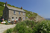 Cornish Cottage - Penberth, Treen, Cornwall (saffron100_uk) Tags: cornwall cottage fishermanscottage cove penberth penberthcove treen granite cliff dwelling house lobsterpots bouys windows chimneys nationaltrust scenic landscape sky