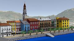 Panoramica modello (Enea Moro) Tags: ascona lego modello ticino brick chiesa campanile piazza