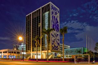 The Bacardi Tower & Jewel Box Buildings, 2100 Biscayne Boulevard, Miami, Florida, USA / Built: 1963, 1974 / Architects: Enrique Gutierrez, Ignacio Cabrera-Justiz / Architectural Style: Miami Modern (MiMo)