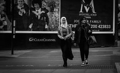 2018_123 (Chilanga Cement) Tags: fuji fujix100f xseries x100f bw blackandwhite monochrome lady woman sidewalk