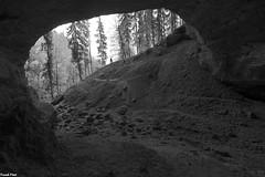 Porche d'Entrée de la Grotte du Trésor - Les Combes (francky25) Tags: porche dentrée de la grotte du trésor les combes haut doubs franchecomté karst noir et blanc