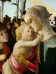 BOTTICELLI,1470-75 - La Vierge et l'Enfant avec le Jeune Saint Jean-Baptiste (Louvre) - Detail 23 (L'art au présent) Tags: art painter peintre details détail détails detalles personnage peinture15e 15thcenturypaintings 15thcentury italianpaintings peintureitalienne italianpainters peintresitaliens sandro portraits face faces visage youngboy head heads museum paris france musée religion catholic catholique bible people louvre jesus jésus christ saint holy tree arbre holyfamily kid kids child children vierge virgin putti saintjohn rose nature palm palmier livre book baby bébé love amour