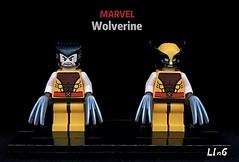 Wolverine, X-Men Marvel (L1n6zz) Tags: xmen lego marvel wolverine