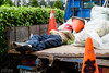 Traffic Cone for My Pillow (D. R. Hill Photography) Tags: taiwan taipei asia street streetphotography sleep sleeping candid cone trafficcone worker nap travel nikon nikond750 d750 voigtlander voigtlandernokton58mmf14 nokton 58mm cosina manualfocus primelens fixedfocallength