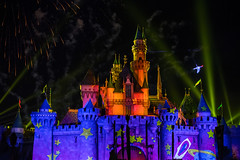 Together Forever — A Pixar Nighttime Spectacular - Disneyland fireworks show - Buzz Lightyear in flight (GMLSKIS) Tags: disney nikond750 anaheim california pixar disneyland fireworks sleepingbeautycastle buzzlightyear