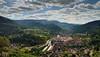 Blick von Schloss Eberstein in das Murgtal bei Gernsbach (MHikeBike) Tags: wald berge see wasser bäume urwald nationalpark schwarzwald nordschwarzwald murg murgtal baiersbronn huzenbach schönmünzach wandern wege ruhe stille einsamkeit holz berg baum landschaft schloss burg eberstein gebäude architektur landstrase