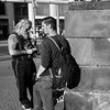 How Friends Roll (solas53) Tags: blackwhite bw blackandwhite black white monochrome street candid berlin germany people standing urban