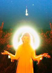 Rebirth (Mike Monaghan) Tags: mikemonaghan model mood glow mountain mountrainier lightpainting moody orange colorful blue longexposure astrophotography stars fashion