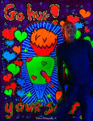 Go hug! your self. Painting by: Jeroen Bos Art (Robica Photography) Tags: jeroenbosart robicaphotography art kunst color psychedelicart 3d artgallery happy fluor neon psychedelic popart music jeroenbosch blacklight blacklightartshow uv ultraviolet uvart paintings light glow lightarts led oil paint partytime d3200 hug yourself hearts portrait illustration abstract
