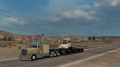 ([johannes]) Tags: ats american truck simulator road way tuning trailer trucks transport trans trucking style lkw low convoi chrome peterbilt 389 customs
