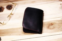 black leather wallet (3) (Babu Handmade) Tags: black wallet blackleatherwallet leatherwalletformen vegtannedleather vegtannedleatherwallet menswallet