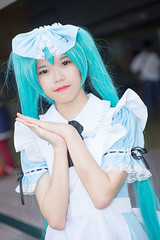 DSC01453 (RamaWangFlickr) Tags: pf28day1 20180519 台北花博公園爭艷館 sonya7 carlzeissjenaddrpancolar80f18mc cosplay coser cosplayer vocaloid 初音未來