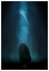 The Deep (picturedevon.co.uk) Tags: abstract macro blue aqua sea smoke rock underwater diver black light color studio canon wwwpicturedevoncouk stilllife
