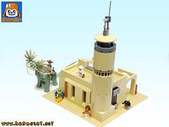 COM-TOWER-LEGO-TATOOINE-03 (baronsat) Tags: lego bricks moc custom model tatooine mos eisley village tower communication star wars