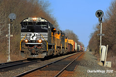 NS 1109 MP 375 Corunna (Charlie Whipp) Tags: ns norfolk southern railway sd70ace 1109 corunna in