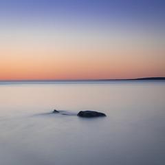 Soft Sunset (andrewpmorse) Tags: brucepeninsula brucepeninsulanationalpark nationalpark nationalparks seascape ontario canada sunset rock lakehuron lake longexposure peach canon canon5dmarkiv 5dmarkiv leefilters leelittlestopper clear