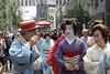 Geisha Girls in Asakusa (seiji2012) Tags: 浅草 浅草三社祭 芸妓 芸者 着物 tokyo festival parade chatting kimono