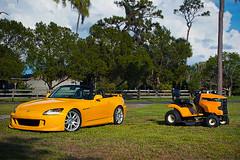 2005 Honda S2000 (amm6587) Tags: rio yellow honda s2000 hondas2000 s2k s2kca s2ki ap1 ap2 f20c f22c convertible roadster car auto lawnmower tractor cub cubcadet florida sarasota nikon
