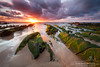 The green dragon's claw (Obikani) Tags: barrika beach sunset clouds sun color green orange sand rocks longexposure flysch beauty biscay euskadi basquecountry canonikos