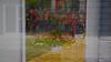 Mirror illusion (Szymon Simon Karkowski) Tags: outdoor mirror ilusion glas bike dor poster people wall tulips flowers silesia voivodeship gliwice poland nikon d7100