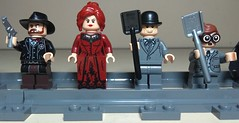Ranger Gordon, Madam Barbara, Alfredo Peña and Ricardo Garcia! (Heavy Metal Rapping Machine) Tags: moc mod dc lego batman lobo scarecrow jonahhex vigilante gordon barbaragordon alfred dickgrayson