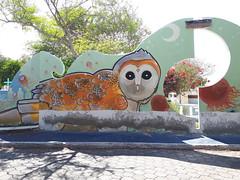 Puerto Ayora (Daniel Putík) Tags: galápagos galapagos galapágy santa cruz santacruz puerto ayora puertoayora mural streetart graffiti wall cemetery owl sova lechuza