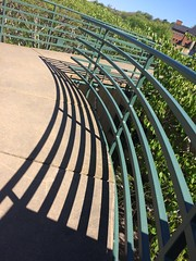 handrail :: shadows (origamidon) Tags: handrail shadows green onemainst burlingtonvermontusa burlington vermont vt usa chittendencounty 05401 greenmountainstate donshall origamidon