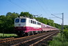 P1570236 (Lumixfan68) Tags: eisenbahn züge sonderzüge loks baureihe 110 euroexpress e10 kastenzehner fusballsonderzug privatbahn