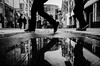 (formwandlah) Tags: kaiserslautern day winter street photography streetphotography schatten urban candid city strange melancholic melancholisch darkness light bw blackwhite black white sw monochrom high contrast ricoh gr pentax formwandlah thorsten prinz licht shadows paranoia monochromatic symmetry fineart bnw puddle pfütze reflection spiegelung water wasser rainy regen