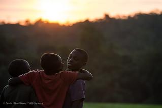 Igara kids at sunset, Uganda, June 2017