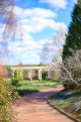 Path to your Dreams (Brian M Hale) Tags: tower hill botanic botanical botany garden gardening outside outdoors boylston ma mass massachusetts new england newengland usa nature sky clouds bright path pathway trees flowers pergola architecture colorful brian hale brianhalephoto lensbaby velvet 56mm 56 velvet56