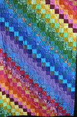 Rainbow patchwork quilting (Kirkleyjohn) Tags: colours quilt patchwork crafts