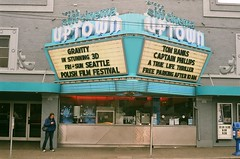 Uptown Theater in Stunning 3D (Anne Abscission) Tags: seattle washington siffcinemauptown queeneanne movietheater theater marquee neonsigns vintagesigns oldbuildings urban filmphotography olympustrip35 35mmfilm fujifilm fujisuperia ishootfilm staybrokeshootfilm pnwlife uptowntheater