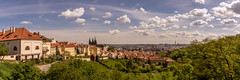 Prague panorama (hjuengst) Tags: prag prague czechrepublic tschechien strahovmonastery panorama pano weitwinkel wideangle clouds wolken praguecastle