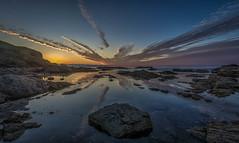 Cloud Burst (avaird44) Tags: cloud burst reflection aberdour aberdeenshire dusk scotland coast seascape