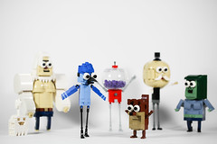 Regular show (joffre0714) Tags: lego moc regular show mordecai rigby benson skips muscle man hi five ghost pops